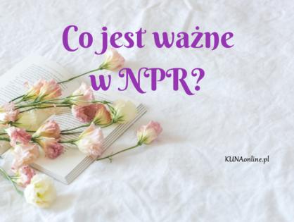 Co jest ważne w NPR?