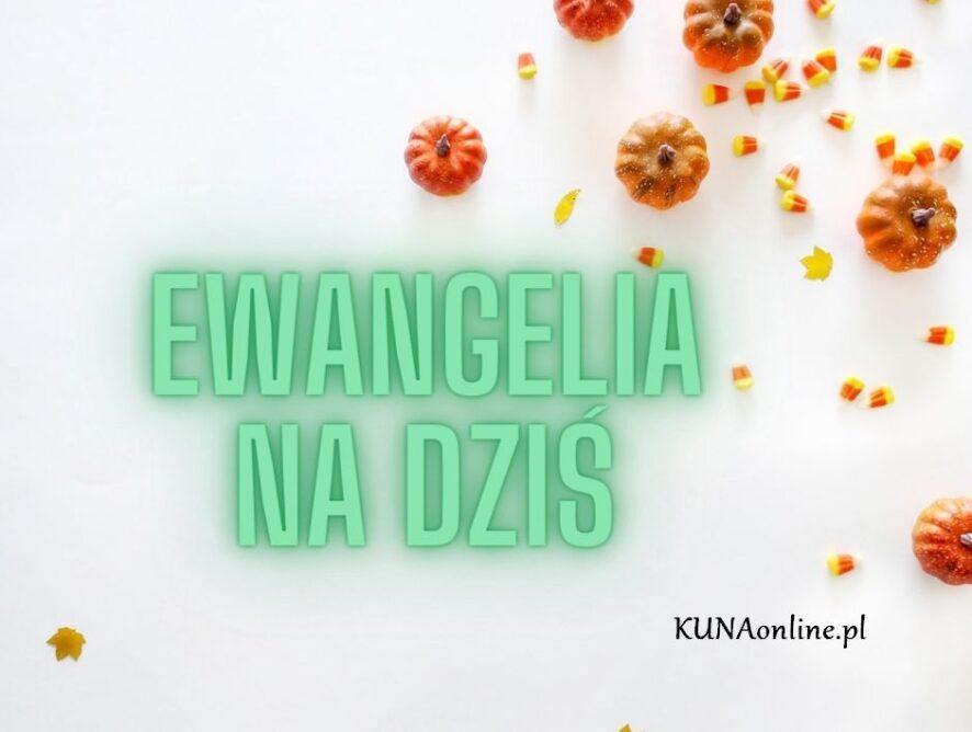 EWANGELIA 20 LISTOPADA 2020 + komentarz
