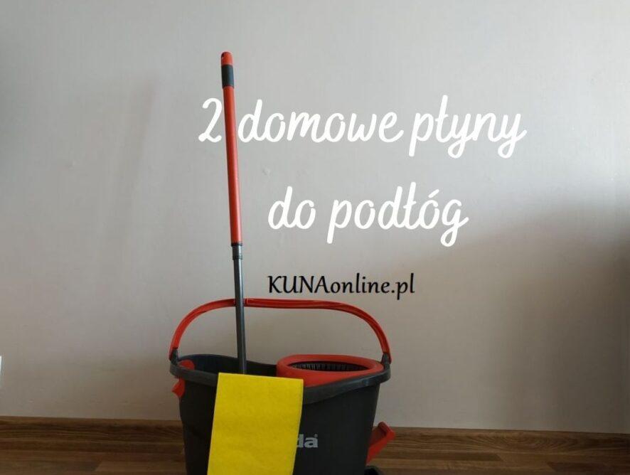 2 domowe płyny do mycia podłóg
